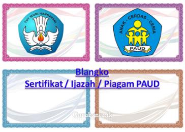 Contoh Blanko Sertifikat Ijazah Piagam Paud File Paud